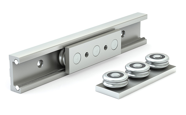 铝基滚轮滑块导轨